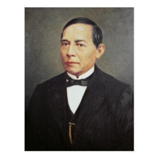 Retrato de Benito Juarez, 1948 Cartão Postal