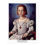 Retrato de Bia Medici por Angelo Bronzino Cartões Postais