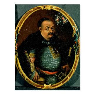 Retrato de Bohdan Khmelnytsky Cartão Postal