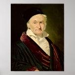 Retrato de Carl Friedrich Gauss, 1840 Poster