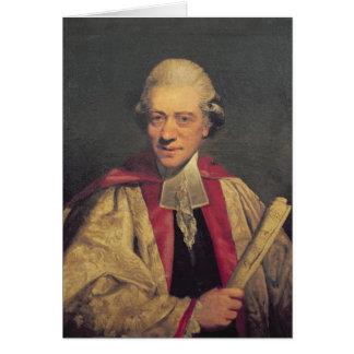 Retrato de Charles Burney, c.1781 Cartão Comemorativo