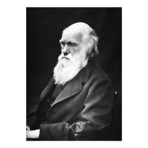 Retrato de Charles Darwin Convites Personalizados