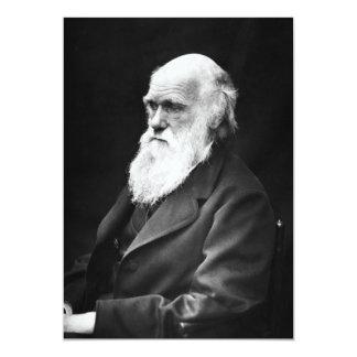 Retrato de Charles Darwin Convite 12.7 X 17.78cm