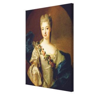Retrato de Charlotte Aglae de Orleans, 1720s Impressão De Canvas Esticadas
