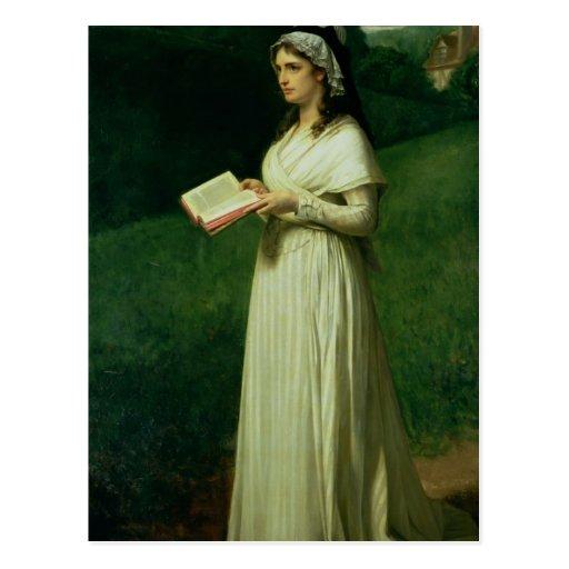 Retrato de Charlotte Corday Cartao Postal