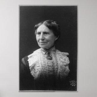 Retrato de Clara Barton mais tarde na vida Pôsteres