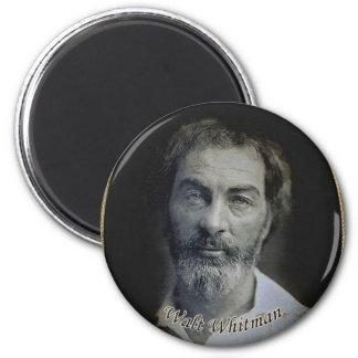 Retrato de Colorized Walt Whitman Ímã Redondo 5.08cm