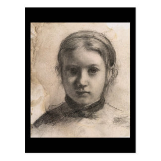 Retrato de Edgar Degas de Giovannina Bellelli Cartão Postal
