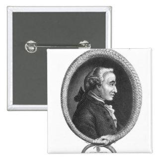 Retrato de Emmanuel Kant 2 Botons