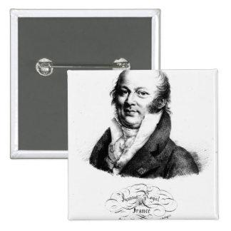 Retrato de Etienne Geoffroy Santo-Hilário Bóton Quadrado 5.08cm