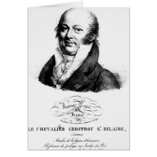 Retrato de Etienne Geoffroy Santo-Hilário Cartão Comemorativo