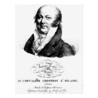 Retrato de Etienne Geoffroy Santo-Hilário Cartão Postal