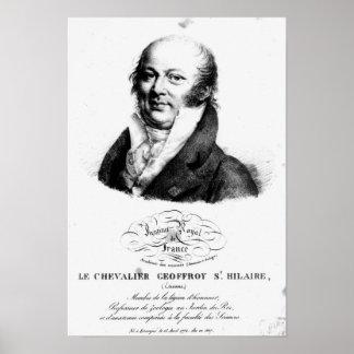 Retrato de Etienne Geoffroy Santo-Hilário Poster
