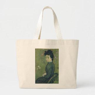 Retrato de Eva Meurier em um vestido verde Bolsa Tote Grande