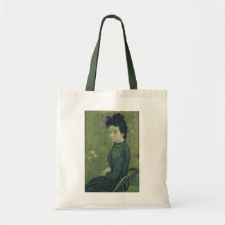 Retrato de Eva Meurier em um vestido verde Sacola Tote Budget