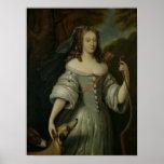Retrato de Francoise Louise de la Baume Pôsteres