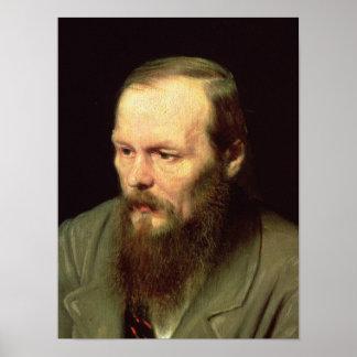 Retrato de Fyodor Dostoyevsky 1872 Pôster