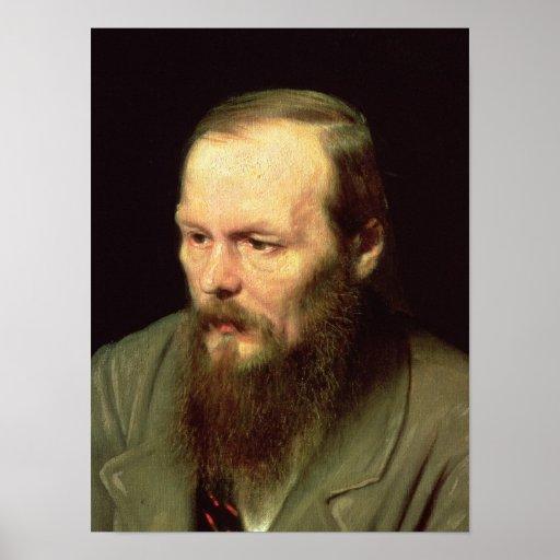 Retrato de Fyodor Dostoyevsky 1872 Pôsteres
