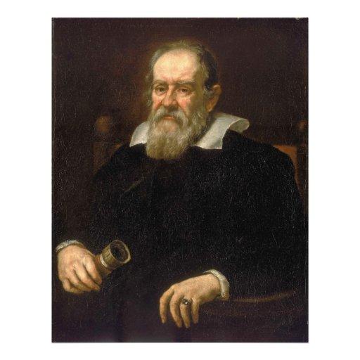 Retrato de Galileo Galilei por Justus Sustermans Fotografias
