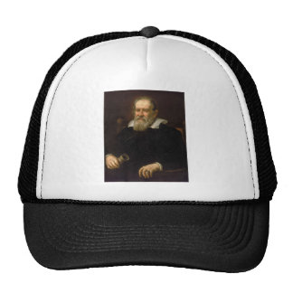 Retrato de Galileo Galilei por Justus Sustermans Boné