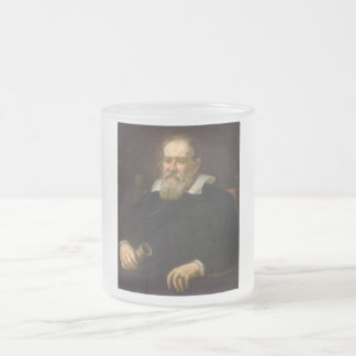 Retrato de Galileo Galilei por Justus Sustermans Caneca De Vidro Fosco