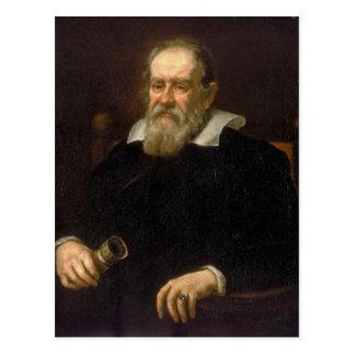 Retrato de Galileo Galilei por Justus Sustermans Cartão Postal