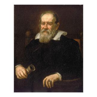 Retrato de Galileo Galilei por Justus Sustermans Impressão De Foto