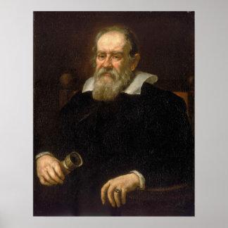 Retrato de Galileo Galilei por Justus Sustermans Impressão