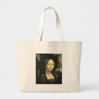 Retrato de Ginevra de Benci cerca de da Vinci 1476 Sacola Tote Jumbo