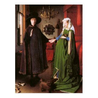 Retrato de Giovanni Arnolfini e sua esposa Cartão Postal