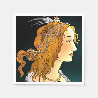 Retrato de guardanapo de uma mulher