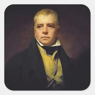 Retrato de Henry Raeburn- do senhor Walter Scott Adesivo Em Forma Quadrada