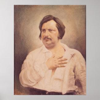 Retrato de Honore de Balzac Poster