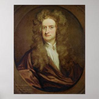Retrato de Isaac Newton 1702 Impressão