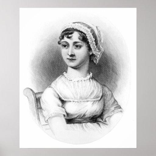 Retrato de Jane Austen Pôsteres