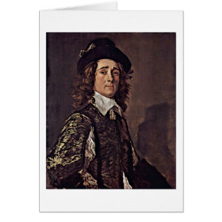Retrato de Jaspe Van Westrum Frans Hals Cartao