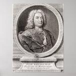 Retrato de Jean Bernoulli gravado perto Posters