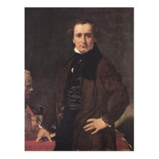 Retrato de Jean Ingres- do escultor Lorenzo Cartão Postal