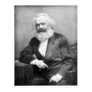 Retrato de Karl Marx Cartão Postal