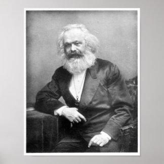 Retrato de Karl Marx Poster