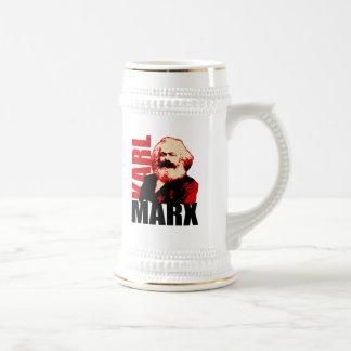 Retrato de Karl Marx, socialista Caneca De Cerveja