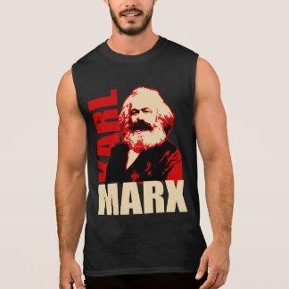 Retrato de Karl Marx - socialista e comunista Camiseta Sem Manga