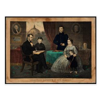 [Retrato de Kelly & dos filhos de Abraham Lincoln Cartão Postal