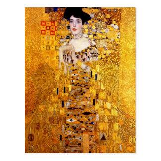 Retrato de Klimt de Adele Bloch-Bauer mim cartão