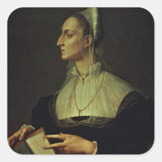Retrato de Laura Battiferri, c.1555-60 (painel) Adesivo Quadrado