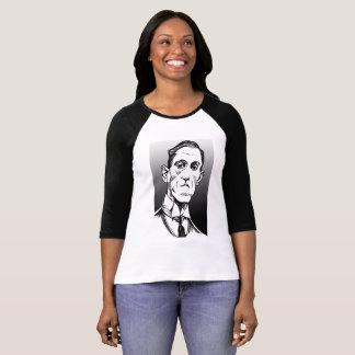 Retrato de Lovecraft, camisa de Lovecraft, T do