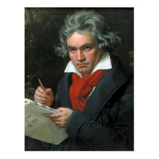 Retrato de Ludwig van Beethoven Cartão Postal