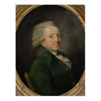 Retrato de Marie-Jean-Antoine-Nicolas Cartão Postal
