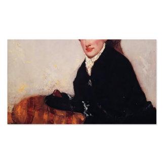Retrato de Mary Cassatt- da senhora X sessão vesp Cartoes De Visita