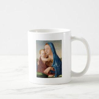 Retrato de Mary que guardara o bebê Jesus Caneca De Café